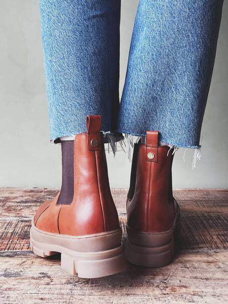 Cognac - You and me Low Boots