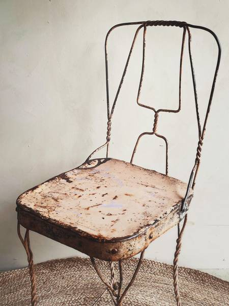 Vintage Brun Metall Stol No.5