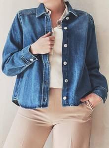 Bilde av Blå - Slfmille Jeansskjorte